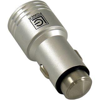 LC-Power USB-Hub KFZ-Ladegerät Alu 2x USB (1x2,1A/1x 1,0A)
