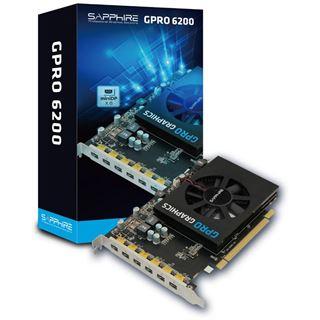 4GB Sapphire GPRO 6200 Aktiv PCIe 3.0 x16 (Retail)