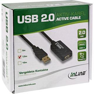 (€2,65*/1m) 7.50m InLine USB2.0 Verlängerungskabel USB A