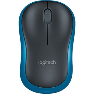Logitech M185 Wireless Mouse USB schwarz/blau (kabellos)