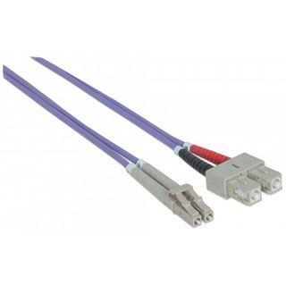 (€4,95*/1m) 2.00m Intellinet LWL Duplex Anschlusskabel 50/125