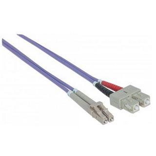 (€2,58*/1m) 5.00m Intellinet LWL Duplex Anschlusskabel 50/125