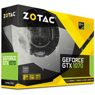 8GB ZOTAC GeForce GTX 1070 Mini Aktiv PCIe 3.0 x16 (Retail)