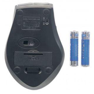 Manhattan Curve USB grau/schwarz (kabellos)