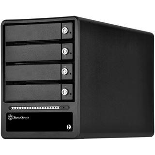 Silverstone SST-TS433-TB, 4-Bay 3,5 Zoll HDD Gehäuse - schwarz