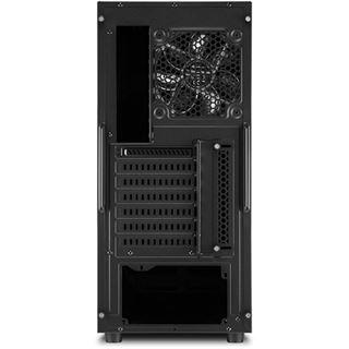 Sharkoon S25-W mit Sichtfenster Midi Tower ohne Netzteil schwarz