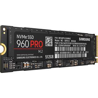 512GB Samsung 960 Pro M.2 2280 NVMe PCIe 3.0 x4 32Gb/s 3D-NAND MLC