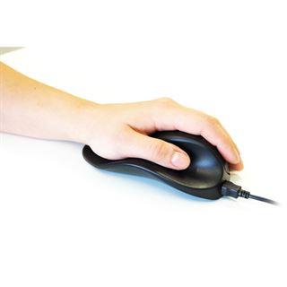 BakkerElkhuizen Handshoemouse links klein USB schwarz (kabelgebunden)