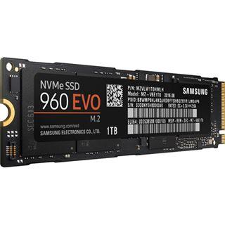 1000GB Samsung 960 Evo M.2 2280 NVMe PCIe 3.0 x4 32Gb/s 3D-NAND TLC