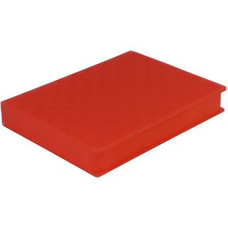 "Inter-Tech AC Schutz-Box 1x 2,5"" Kunststoff Rot"