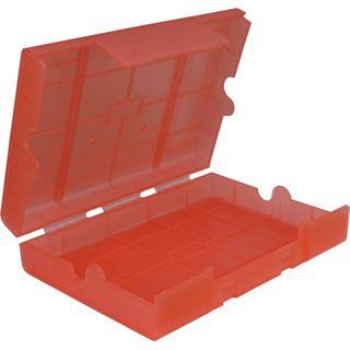 "Inter-Tech AC Schutz-Box 1x 3,5"" oder 4x 2,5"" Kunststoff Rot"