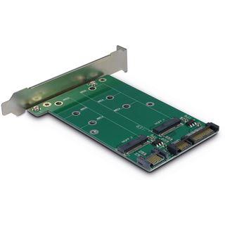 Inter-Tech AC Adapter KT005A, 2xSATA zu 2xM.2 SATA, Card