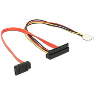 0.30m Delock SATA 6Gb/s Anschlusskabel SATA Buchse + 4 Pin Floppy