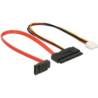 0.30m Delock SATA 6Gb/s Adapterkabel SATA Buchse + 4 Pin Floppy