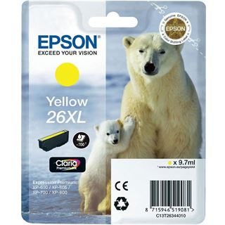 Epson Tinte 26 xl C13T26344020 gelb