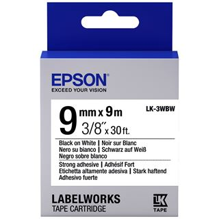 Epson Band klebend schw./weiß 9mm