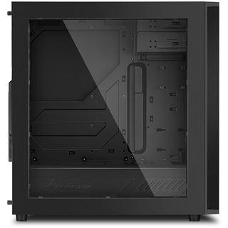 Sharkoon M25-W mit Sichtfenster Midi Tower ohne Netzteil schwarz