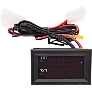 Phobya Thermometer mit Alarmfunktion - blau/rot