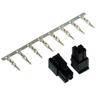 Phobya ATX Power Connector 4Pin Stecker inkl. 4 Pins - 2 Stück