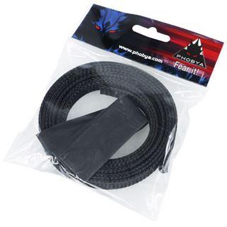 "Phobya Simple Sleeve Kit 13mm (1/2"") Schwarz 2m incl. Heatshrink"