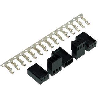 Phobya Fan Power Connector 3Pin Buchse inkl. 3 Pins - 5 Stück