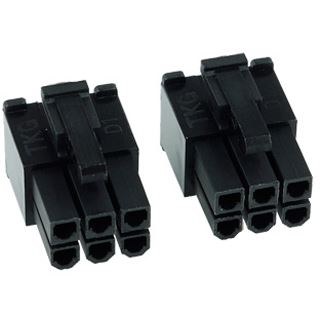 Phobya VGA Power Connector 6Pin Stecker (4-eckig) inkl. 6 Pins - 2