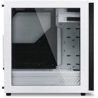 Sharkoon M25-W mit Sichtfenster Midi Tower ohne Netzteil weiss