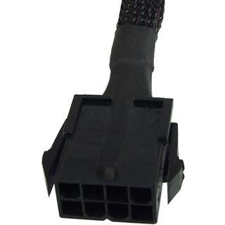 Phobya Verlängerung 8-Pin oder EPS12V 30cm - Schwarz