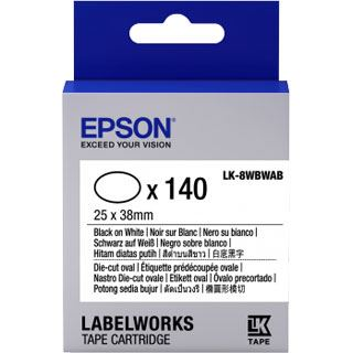 Epson LK8WBWAB D-Cut 25x38mm
