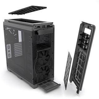 Phanteks Enthoo Luxe Tempered Glass mit Sichtfenster Big Tower ohne