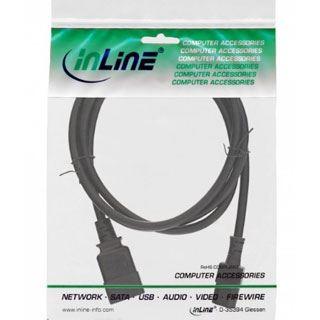 (€8,90*/1m) 1.00m InLine Stromadapterkabel C20 Buchse auf C13