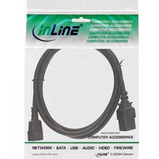(€8,90*/1m) 1.00m InLine Stromadapterkabel C14 Buchse auf C19