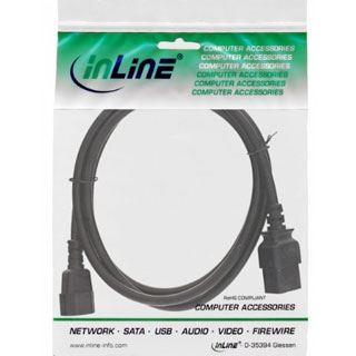 (€5,45*/1m) 2.00m InLine Stromadapterkabel C14 Buchse auf C19