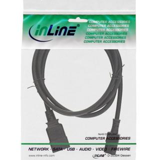 (€4,95*/1m) 2.00m InLine Stromadapterkabel C20 Buchse auf C13