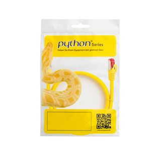 (€4,90*/1m) 1.00m PYTHON Cat. 6 Patchkabel S/FTP PiMF RJ45