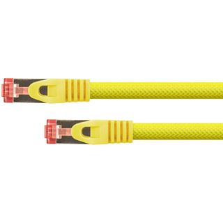 (€0,86*/1m) 15.00m PYTHON Cat. 6 Patchkabel S/FTP PiMF RJ45