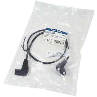 (€6,53*/1m) 0.75m LogiLink Stromadapterkabel Euro Stecker auf