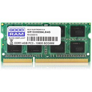 4GB GOODRAM GR1600S364L11S/4G DDR3-1600 SO-DIMM CL11 Single