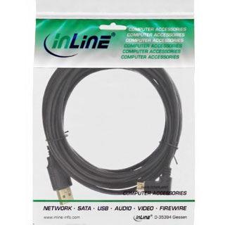 (€1,63*/1m) 3.00m InLine USB2.0 Adapterkabel USB A Stecker auf