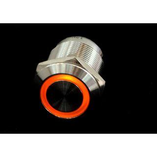 Phobya Vandalismus / Klingeltaster 19mm Edelstahl, orange Ring