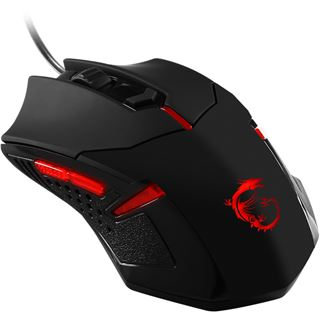 MSI Interceptor DS B1 GAMING USB schwarz (kabelgebunden)