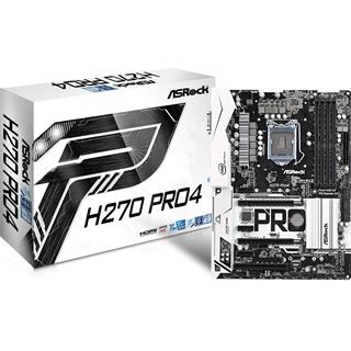ASRock H270 Pro4 Intel H270 So.1151 Dual Channel DDR ATX Retail