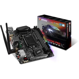 MSI Z270I Gaming Pro Carbon AC Intel Z270 So.1151 Dual Channel DDR4
