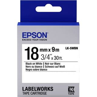 Epson LK5WBN Label Cartridge schwarz/weiß 18mm