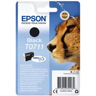 Epson Singlepack T0711 Durabrite Schwarz
