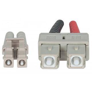 (€1,98*/1m) 5.00m Intellinet LWL Duplex Anschlusskabel 50/125