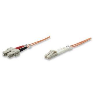 (€0,99*/1m) 10.00m Intellinet LWL Duplex Anschlusskabel 50/125