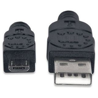 (€9,80*/1m) 0.50m Manhattan USB2.0 Anschlusskabel High-Speed USB
