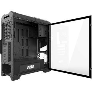 Azza Titan 240X mit Sichtfenster Midi Tower ohne Netzteil schwarz