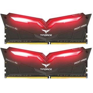 32GB TeamGroup T-Force Nighthawk Red DDR4-3000 DIMM CL16 Dual Kit